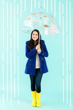Bookmark this DIY project to learn how to make an aquarium umbrella for rainy days.