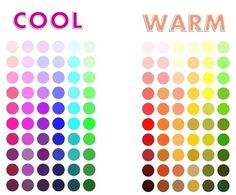 warm or cool - what looks good on which skin colors.