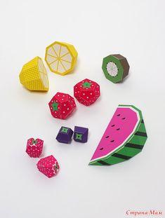 Забавные объёмные поделки из бумаги: сочные фрукты - Развиваем ребенка дома (от 0 до 7 лет) - Страна Мам