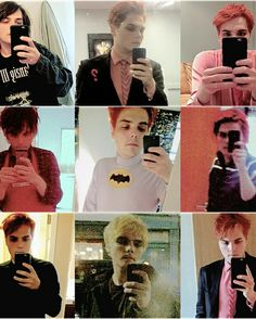 Gerard taking selfies