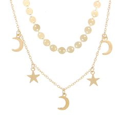 >> Click to Buy << BeautyWay Trendy Multi Layer Star Moon Charm Sequins Chokers Necklaces for Women Punk Gold Collar Chokers Jewelry Gifts 4254 #Affiliate