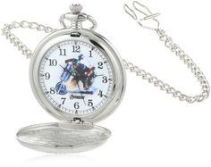 Marvel Comics Men's W000462 Captain America Pocket Watch -- #NoveltyWatchesGiftIdeas