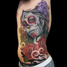 13 Beautiful Day Of The Dead Tattoos | Tattoodo.com