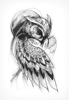 Family Tattoo Designs, Owl Tattoo Design, Heart Tattoo Designs, Dope Tattoos, Body Art Tattoos, Tattoos For Guys, Sleeve Tattoos, Owl Tattoo Drawings, Tattoo Sketches