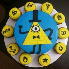 Gravity Falls cake, Bill Cipher cake