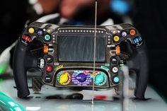 Mercedes AMG F1 steering wheel