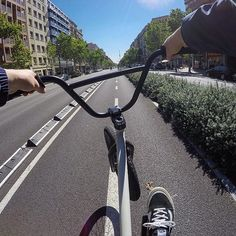 Cruising with @lntstefan in #barcelona! #bmx #flybikes #bike #bicycle #style #bcn #gopro