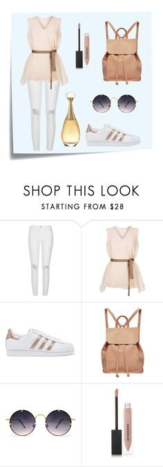 """Sporty outfit"" by spookie1 ❤ liked on Polyvore featuring Post-It, River Island, Brunello Cucinelli, adidas Originals, Urban Originals, Spitfire, Burberry and Christian Dior"