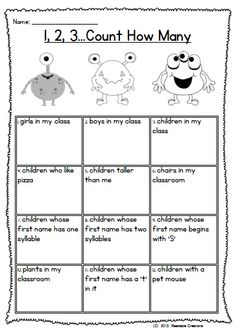 This back to school resource unit can be utilized over the first few weeks of Grade One. (It would also be suitable as an end of year thematic unit for Kindergarten.)