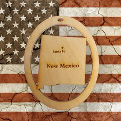 Beautifully Handcrafted New Mexico Christmas Ornament! Personalized Free!