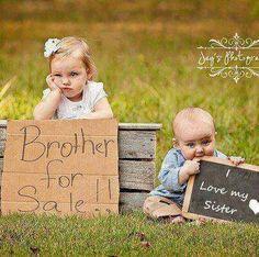 Sibling photo...