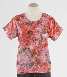 Scrub Med Womens Scrub Top in Geranium - $30