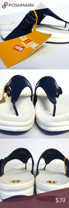 Fitflop 11 Superjelly thong sandals Navy NWT New with tag, no box. Beach and water friendly. Microwobbleboard technology. Thing style sandals. Fitflop  Shoes Sandals
