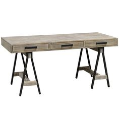 Juliana Sawhorse Reclaimed Wood Desk | Zin Home