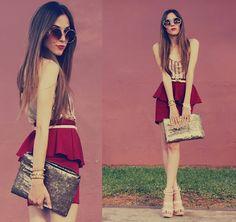Spredfashion spredfashion.com Peplum Frill High Waisted Skirt