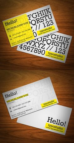 Buy Alphabet Business Card by kaixer on GraphicRiver. Typography and Minimal Business Card Templates is very easy to customize. Minimal Business Card, Business Card Psd, Simple Business Cards, Creative Business, Business Card Design Inspiration, Business Design, Corporate Design, Double Sided Business Cards, Name Card Design