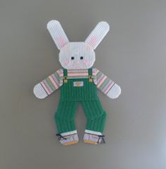 Spring Bunny Rabbit Easter Bunny Plastic Canvas Wall Hanging