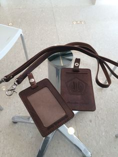 ID card holder  Crazy horse Leather