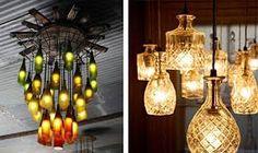 Resultado de imagen de como hacer lamparas originales