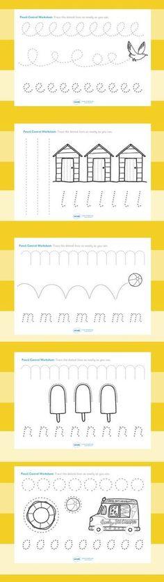 Free Line Handwriting Worksheets #preschool #freebie #printable