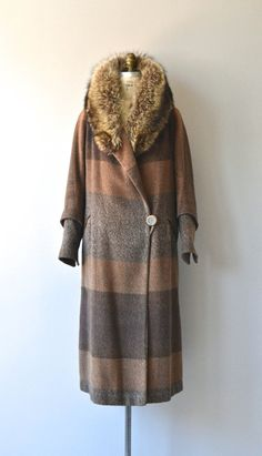 1920s camel hair and racoon coat by DearGolden
