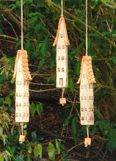 Ceramic wind chime bells by NANDOMO on Etsy