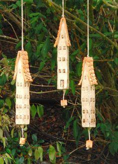 Ceramic wind chime bells by NANDOMO on Etsy