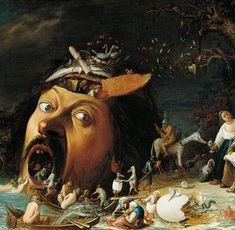 Ermattet sitzt der heilige Antonius auf diesem Bild von Joos van Craesbeeck an einen Baum gelehnt Obs: Assim não dá!!