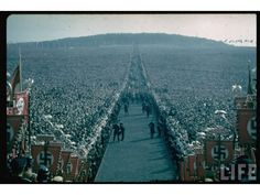 The amount of people at this Nazi rally is staggering. Nazi Germany - Color Photos from LIFE archive