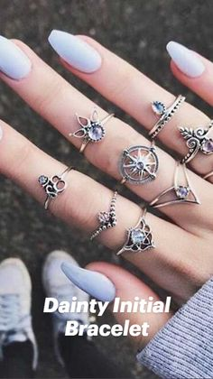 Gypsy Style, Bohemian Style, Initial Bracelet, Moon Necklace, Trendy Fashion, Initials, Fine Jewelry, Style Inspiration, Bracelets