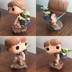 This is a custom made Luke and Yoda Star Wars Funko Pop! Once these are out of our store they will not be reproduced! They will include a signed