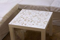 Coffee-Stained Coffee Table tutorial