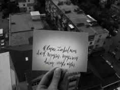 Calligraphy black white city