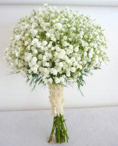 A Gypsophilia Bouquet I did for a Wedding.