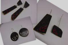 earrings silver+brass by flora...