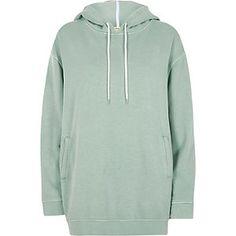 Green soft oversized hoodie