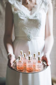 individual bellinis, photo by Chantal Lachance-Gibson Photography http://ruffledblog.com/first-look-inspired-scottish-wedding #weddingideas #drinks