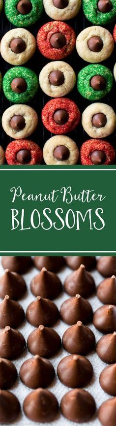 Super soft and simple classic peanut butter blossoms for your holiday baking! Recipe on sallysbakingaddiction.com
