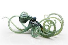Octopus in Seagreen by Jennifer Umphress Studios: Art Glass Sculpture available at www.artfulhome.com $440 @ 30.04.15