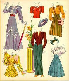 (¯`'•.ೋMary Martin paper doll clothes /kathleen-dakotadreams.blogspot.com