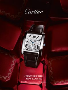 The Tank MC is the latest update to the Cartier Tank collection, first released in 1917. This men's watch features a bold, masculine design, is available in steel or pink gold, and is fitted with the in-house 1904 MC Manufacture Movement.    176 Broadway, New York, NY 10038  212-732-0890   #Cartier #TankMC #WilliamBarthmanJeweler