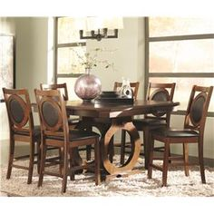 St John 7 Piece Counter Height Dining Table Set with Dining Chairs