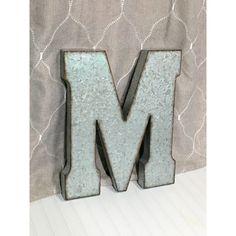 Large Metal Letter M Large Metal Letter20 Inch Letter Large Tgalvanized$30