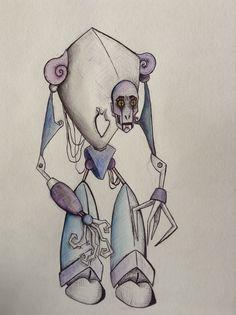 Own design. Biro and watercolour