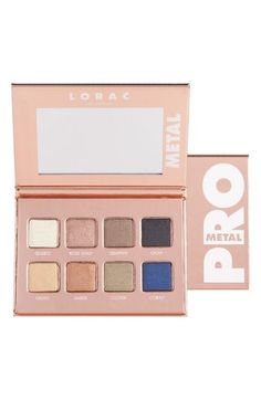 If you have last year Lorac pro metal palette. This rose gold is the same eye shadow colors in a different packaging. Gold Eyeshadow, Eyeshadow Palette, Lip Gloss Set, Rose Gold Hair, That One Friend, Travel Makeup, Makeup Junkie, Best Makeup Products, Beauty Products
