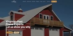 Premier Pole Barn Builder in Virginia and the East Coast. We aim to build the pole barn of your dreams at an affordable price. Specializing in Residential, Commercial, Agricultural, and Equine Barns. Pole Barn Builders, Pole Buildings, Building Contractors, Building Companies, East Coast, Barns, Brewery, Dreaming Of You, Virginia