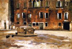 Campo Sant Agnese, Venice (John Singer Sargent - circa 1882)