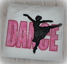 Dance Silhouette Applique
