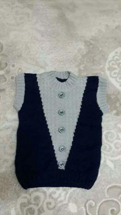 Emeklerim Baby Knitting Patterns, Baby Boy Knitting, Knitting For Kids, Knitting Designs, Baby Patterns, Knit Baby Sweaters, Cute Baby Boy, Moda Emo, Sweater Design