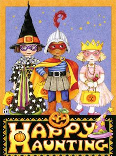 Mary Engelbreit Happy Haunting Halloween Princess Greeting Card w Envelope New | eBay